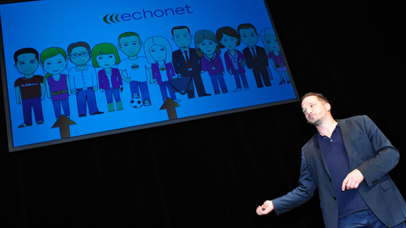 WKJB-Intranet-Präsentation 2013 / Roland Vidmar stellt echonet-Team vor © echonet communication
