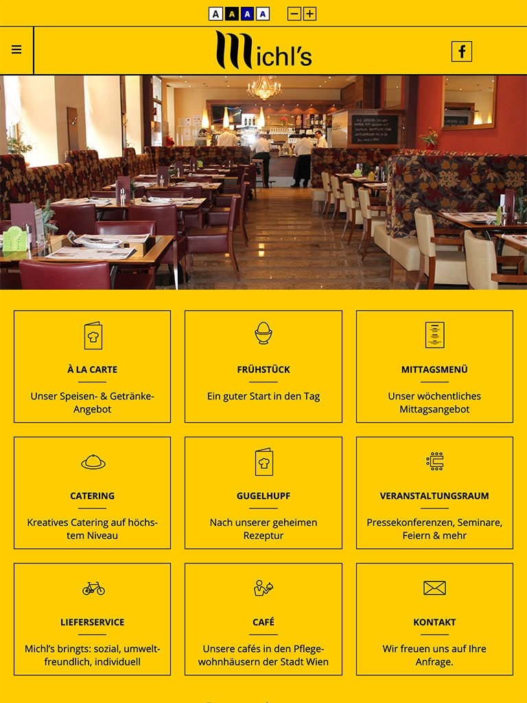 Michls Restaurant | michls.at | 2016 (Tablet Only 05) © echonet communication